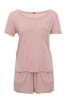 Pijama-Short-Camiseta---Rosa-Claro--frente--low-