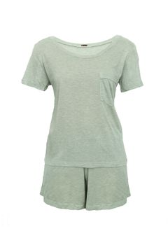 Pijama-Short-Camiseta---Verde-Claro--frente--low-