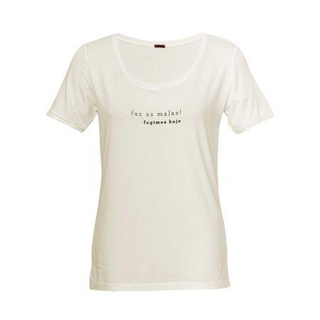 """T-shirt Silk """"Faz as malas"""" OffWhite"""