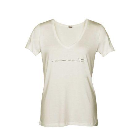 "T-shirt Gola V Silk ""Smile"" Off White"