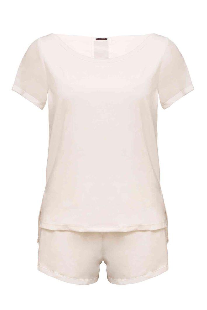 Pijama Curto Suedini Off White P / S - OFF WHITE
