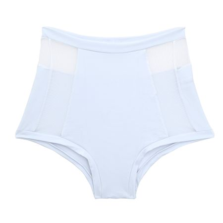 Calcinha Hot Pants Tech Pro Tule Branca