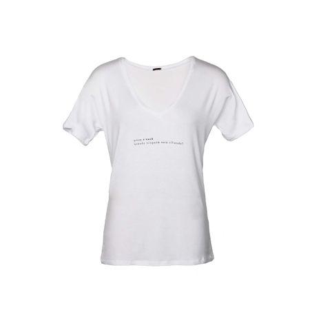 """T-shirt Gola V Silk """"Quem é você"""" Branca"""