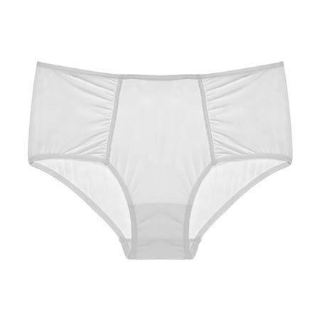 Calcinha Boxer Conforto Poliamida Branco