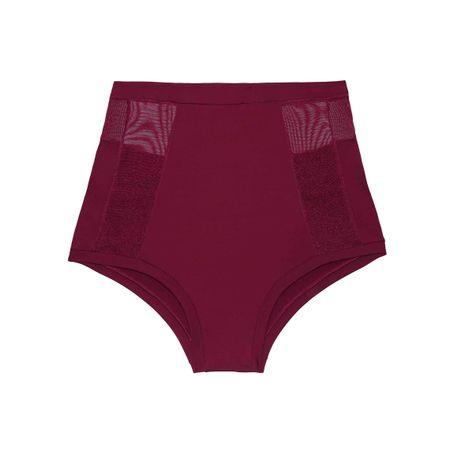 Calcinha Hot Pants Janela Tule Magenta