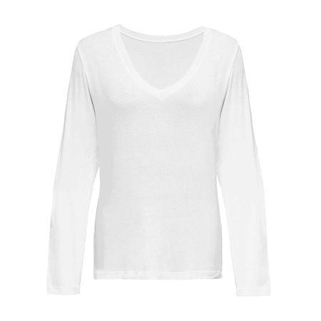 Blusa Basic Gola V Branca