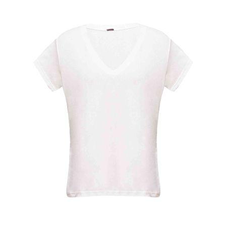 Blusa Corte a Fio Branco
