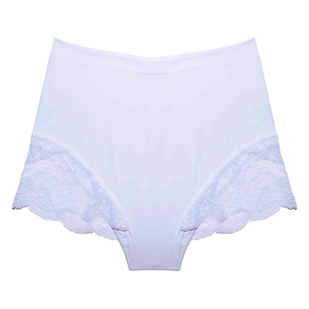 Calcinha Hot Pants Renda Tech Pro Branca - verve be4bb356312