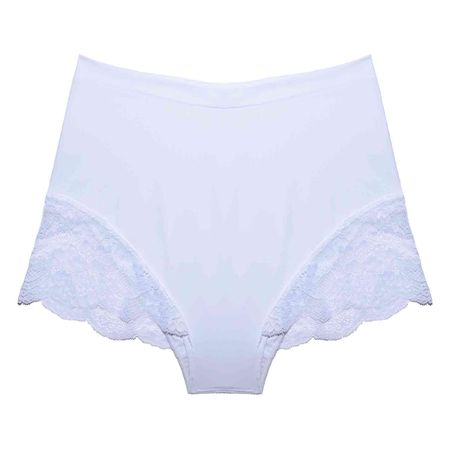 Calcinha Hot Pants Renda/Tech Pro Branca