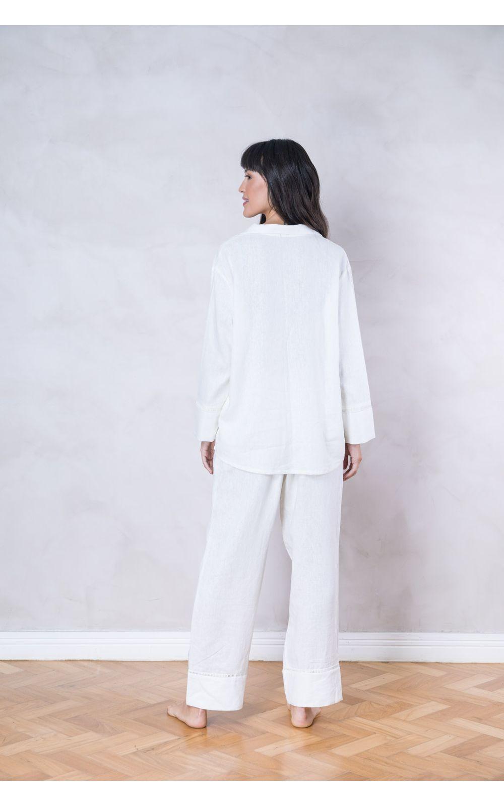 4f252fa2a Foto 2 - Pijama Longo Linho Branco