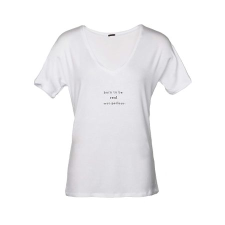 "T-shirt Gola V Silk ""Born To Be"" Branca"