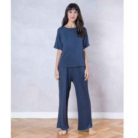 Pijama Longo Cinza Viscolinho