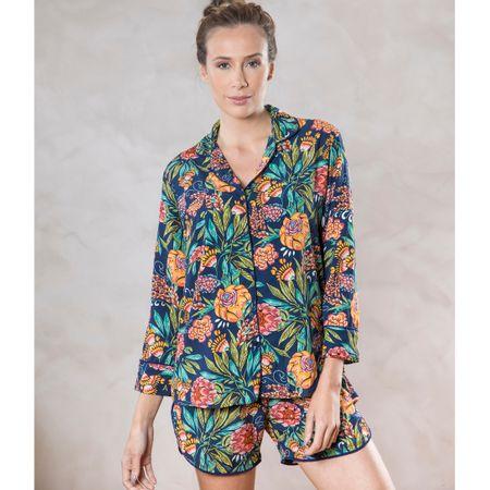 Pijama Curto Camisa E. Piña