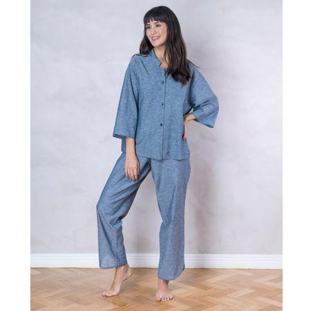 Pijama Japonês Azul