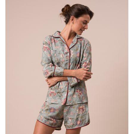 Pijama Curto Camisa E. Fiore Santes