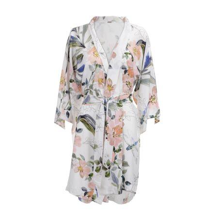 Kimono Longo E. Aquarelada Santes