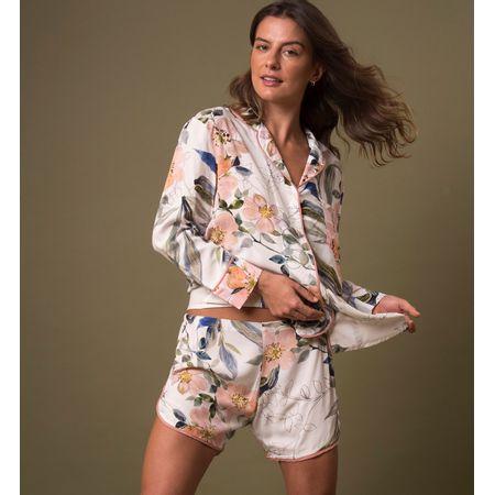 Pijama Curto Camisa E. Aquarelada Santes