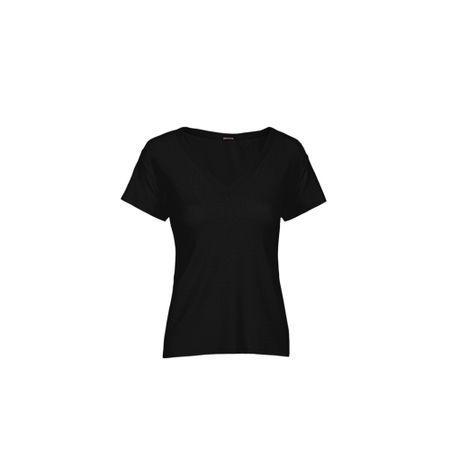 T-Shirt Gola V Tricot Preto